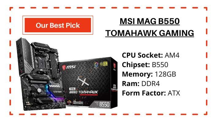 MSI MAG B550 Tomahawk Gaming Motherboard