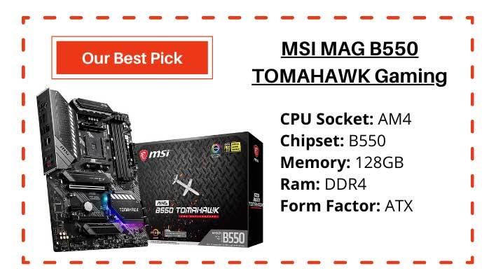 Best B550 Motherboard for Ryzen 7 3700X